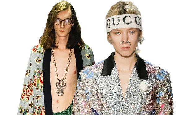Großer Auftritt. Die Gucci-Kollektionen von Alessandro Michele sind ein klarer Fall von Modemaximalismus.