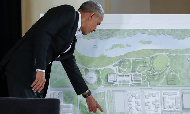 Barack Obama plant eine Bibliothek mit angeschlossenem Garten