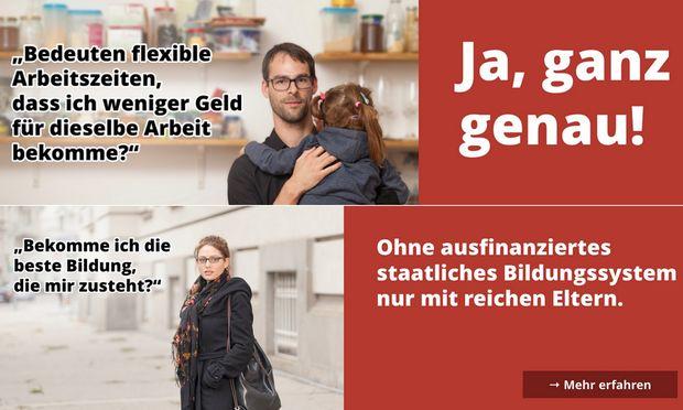 Ausschnitte aus der vida-Kampagne