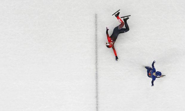 Shorttrack ist ein Spektakel auf Eis und der Publikumsmagnet in Pyeongchang.