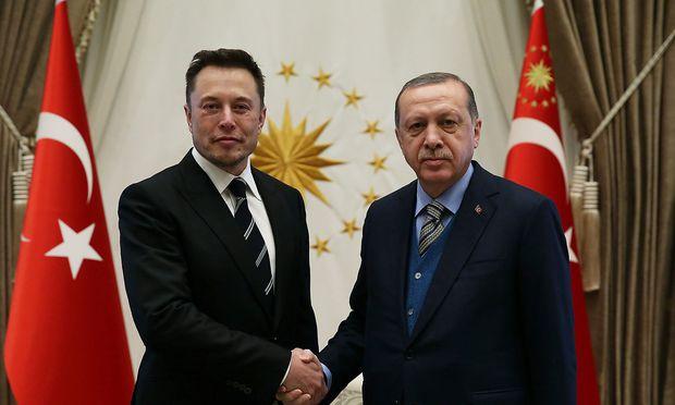 Zwei Visionäre unter sich: Tesla-Chef Elon Musk und Recep Tayyip Erdoğan