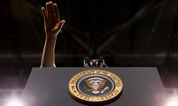 """Ein sehr """"männliches"""" Konzept aus Europa: die Unterwerfung des Publikums durch Redekunst. Von Perikles bis Barack Obama (im Bild bei einer Rede vor Studenten an der University of Colorado in Boulder) hat sich daran kaum etwas geändert. Doch nun scheint das Ende nah."""