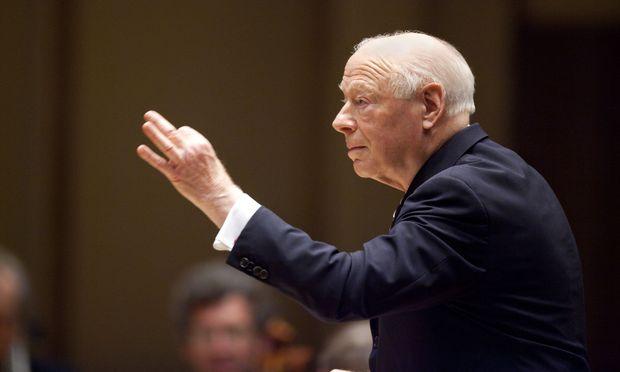 Maestro Bernard Haitink conducts the Chicago Symphony Orchestra. / Bild: (c) Todd Rosenberg Photography/SF (Todd Rosenberg)