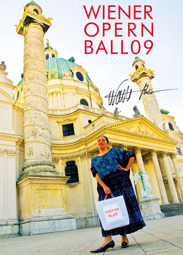Plakat zum Opernball