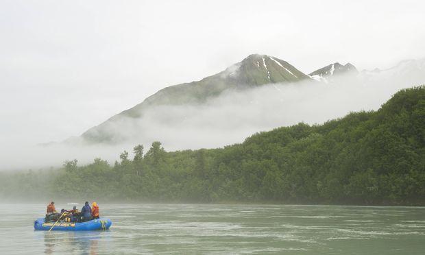 Unterwegs am Yukon River.