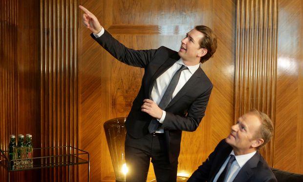 Bundeskanzler Sebastian Kurz beriet mit EU-Ratspräsident Donald Tusk über den EU-Vorsitz Österreichs.