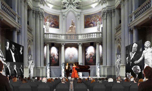 Sakral. Der Sala de la Musica erinnert an eine Kirche, hier finden Veranstaltungen statt.