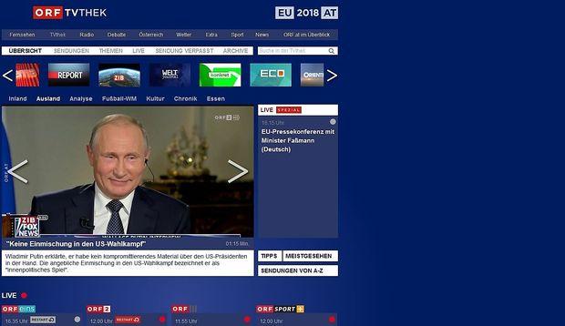 Erfolgreiche Bilanz für die TVthek.  / Bild: Screenshot
