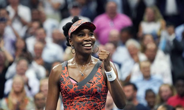 Venus Williams spielt in New York auf.