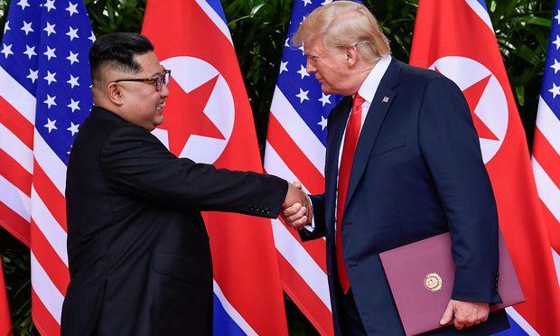 Kim und Trump beim letzten Aufeinandertreffen.