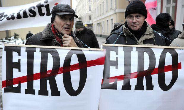 Trotz Krise Lettland will