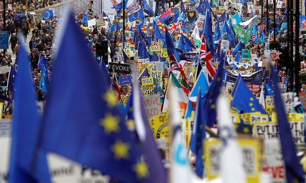 EU-Unterstützer demonstrieren in London. / Bild: REUTERS