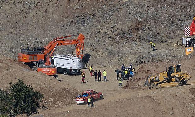 Bilder der Rettungsversuche von Julen aus dem Brunnenschacht in Spanien gingen Mitte Jänner um die Welt.