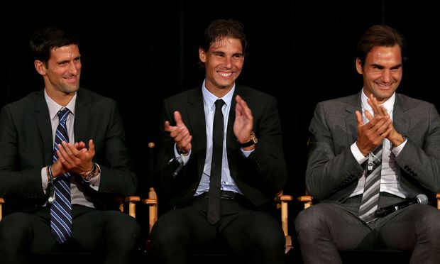 Novak Djoković, Rafael Nadal, und Roger Federer