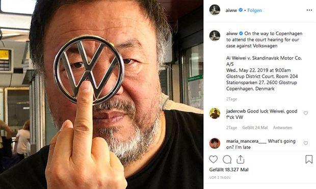 Dieses Foto postete Ai Weiwei auf Instagram