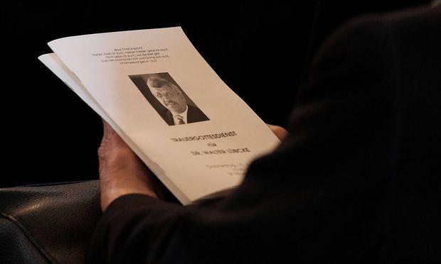 Bild von der Trauerfeier für den getöteten Regierungspräsidenten Lübcke