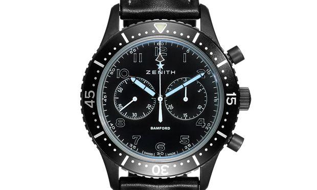 Schwarz steht auch dem Cronometro Tipo CP-2 gut zu Gesicht, der einer alten Militäruhr von Zenith nachempfunden ist.