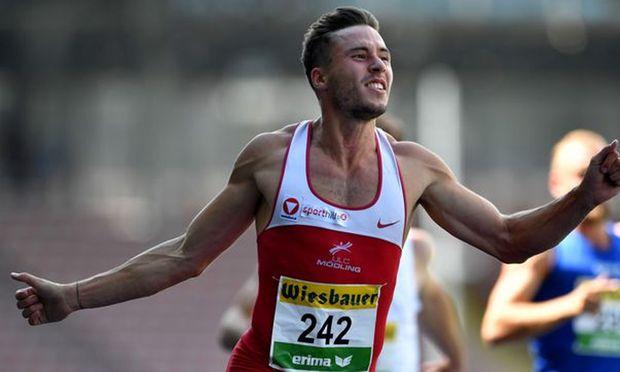 Sprinter Markus Fuchs läiuft EM-Limit.