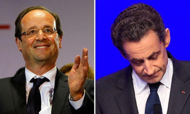 Historischer Machtwechsel Hollande besiegt