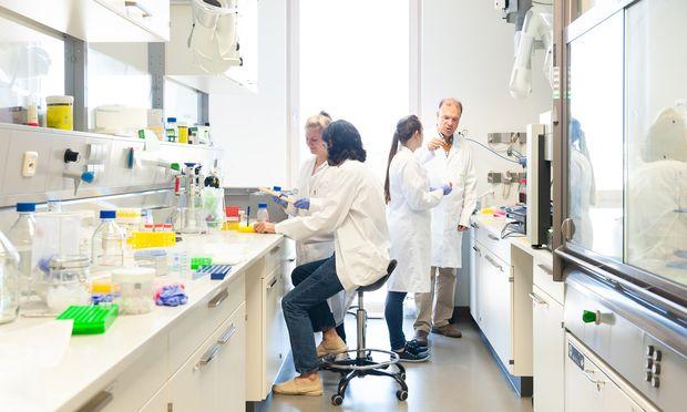 Georg Gübitz (r.) entwickelt am Interuniversitären Department für Agrarbiotechnologie neue Anwendungen für Lignin.