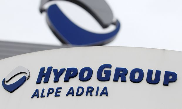 The logo of nationalised lender Hypo Alpe Adria is pictured at the bank´s headquarters in Klagenfurt