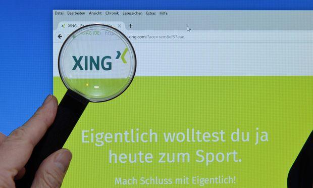 XING Website Bildschirm Lupe XING Website Bildschirm Lupe
