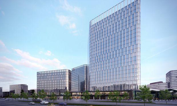 2018 kamen 260.000 Quadratmeter hochwertige Büroflächen auf den Markt, etwa der Austria Campus (160.000 m2; r.) oder The Icon Vienna (74.200 m2).
