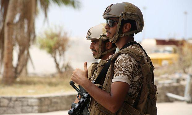 Soldaten in Aden.