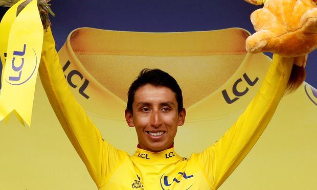 Triumph in Gelb: Egan Bernal ist in den Bergen allen davongefahren.