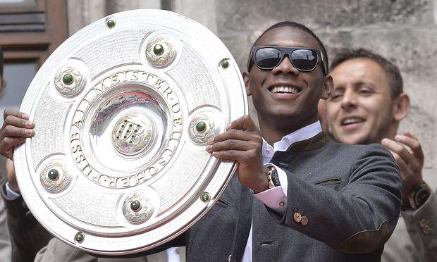 Wird David Alaba auch in dieser Saison wieder mit dem Meisterteller vom Münchner Rathausbalkon strahlen?