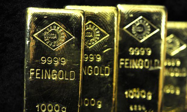 Rohstoff und Krisenwährung: Noch ist der Trend für Gold nicht eindeutig. Alles hängt an der weiteren Entwicklung des Dollar.