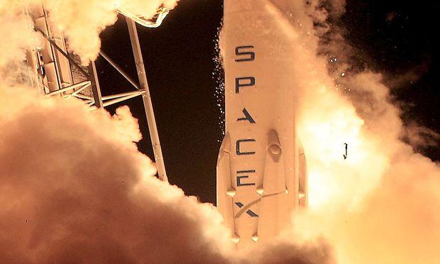 70 Meter hoch ist die Rakete.