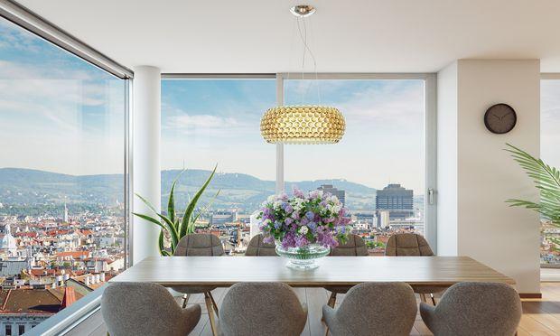 Mit Weitsicht: Penthouse in der Wiener Lindengasse.