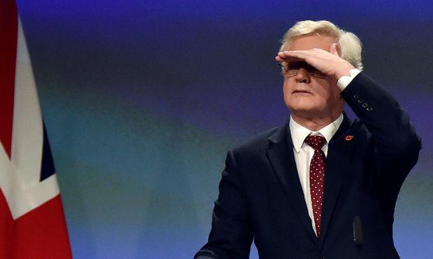 Der britische Verhandlungsführer David Davis.