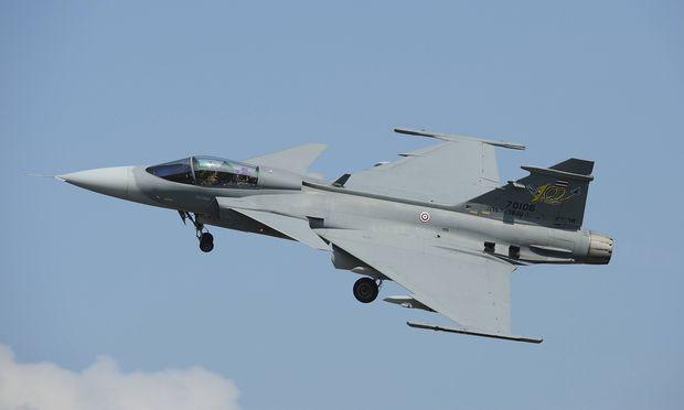Eine JAS 39 Gripen von Saab.
