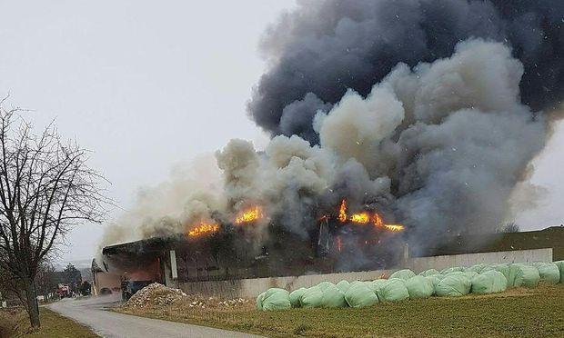 Brand mit drei Toten auf einem Bauernhof am Dienstag