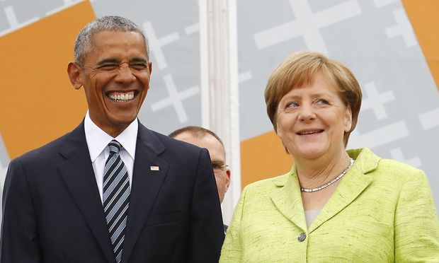 Barack Obama und Angela Merkel in Berlin. / Bild: REUTERS