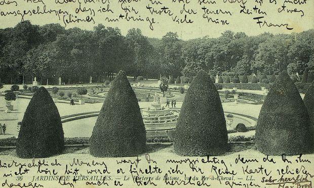 Aura des Einmaligen: Bildpostkarte von Franz Kafka an seine Schwester Ottla, 13. September 1911.