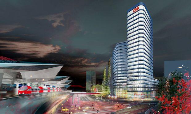 So soll es aussehen, wenn sie fertig ist: Die neue Firmenzentrale der ÖBB