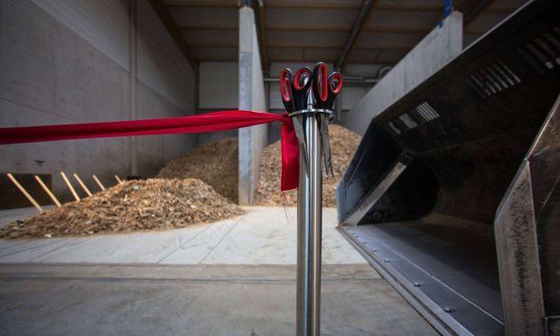 Symbolbild: Eröffnung eines Biomasse-Heizkraftwerks