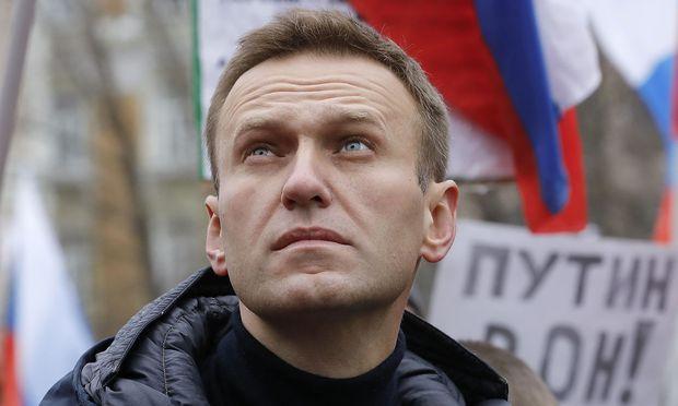 Alexei Nawalny auf einer Kundgebung in Moskau im Februar 2019