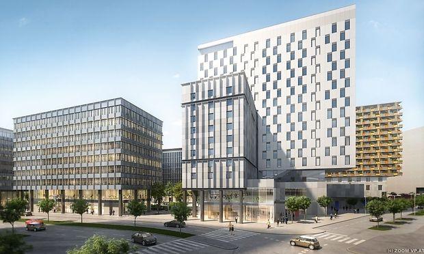 QBC - Visualisierung Bauteil 3 und 5 - Buero und Hotel_Copyright ZOOM VP.AT