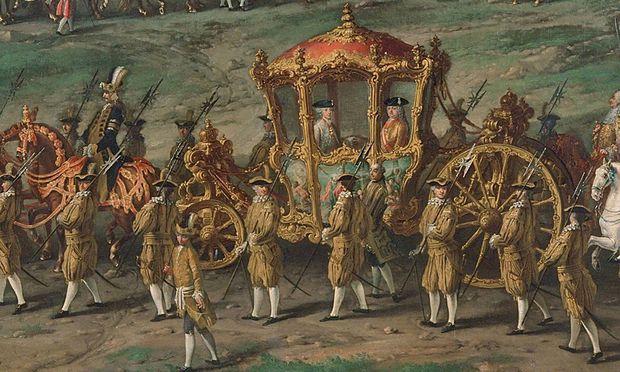 Krönungsreisen als organisatorische Höchstleistung des Hofs: Joseph II. anno 1764 auf dem Weg nach Frankfurt am Main.