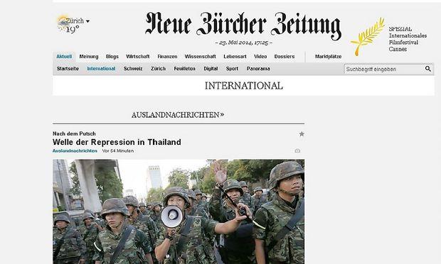 Die NZZ expandiert ins deutschsprachige Ausland.