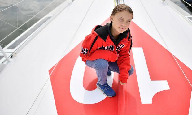 Auf der Segeljacht Malizia II reist Greta zum UN-Klimagipfel nach New York.