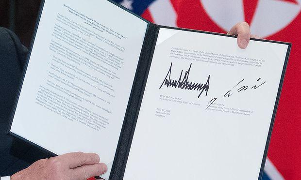 Die unterzeichnete Vereinbarung.