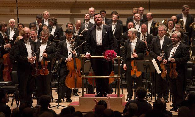 Thielemann mit der Staatskapelle Dresden bei einem Konzert in der New Yorker Carnegie Hall 2013
