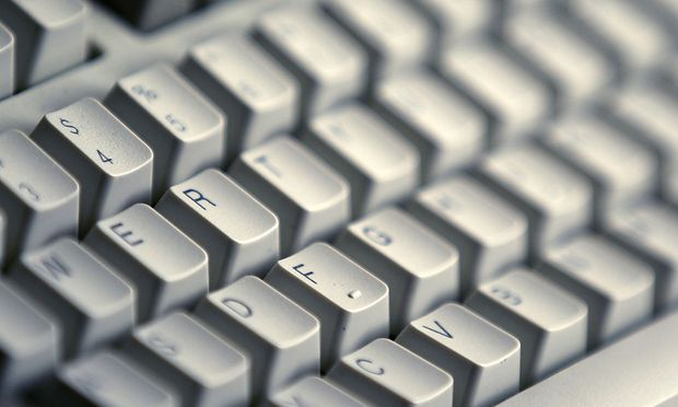 A computer keyboard is seen in Bucharest