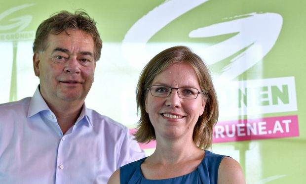 Werner Kogler und Leonore Gewessler