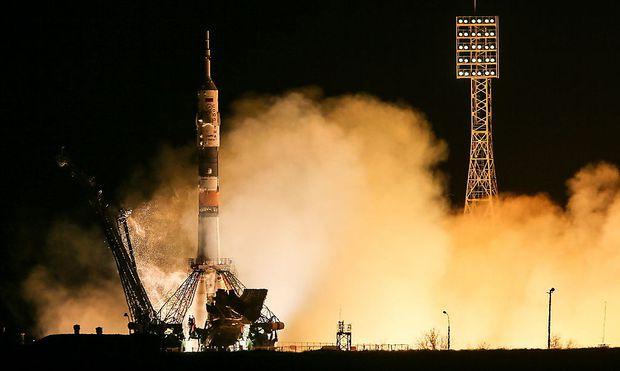 Der Start der Soyuz in Kasachstan in Richtung ISS.